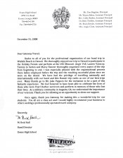 Evans HS letter