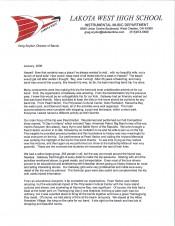 Lakota West Testimonial Letter