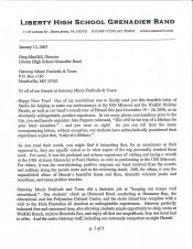 Liberty Testimonial Letter